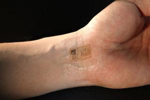 Abziehtattoos mit Computer Chip